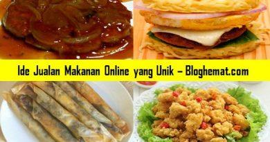 Ide Jualan Makanan Online yang Unik